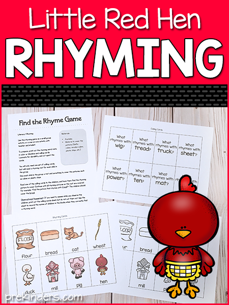 Little Red Hen: Printable Rhyming Game