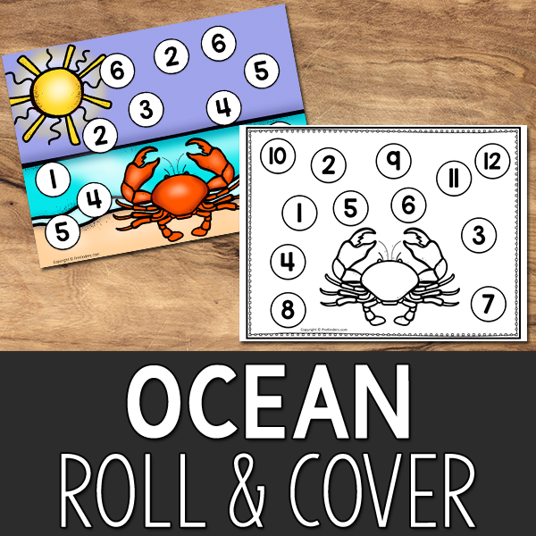 Ocean Roll and Cover Printable