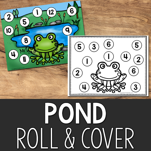 Pond Roll and Cover Game Printable