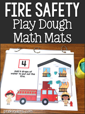 Fire Safety Play Dough Mats
