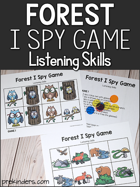 Forest I Spy Game: Listening Skills