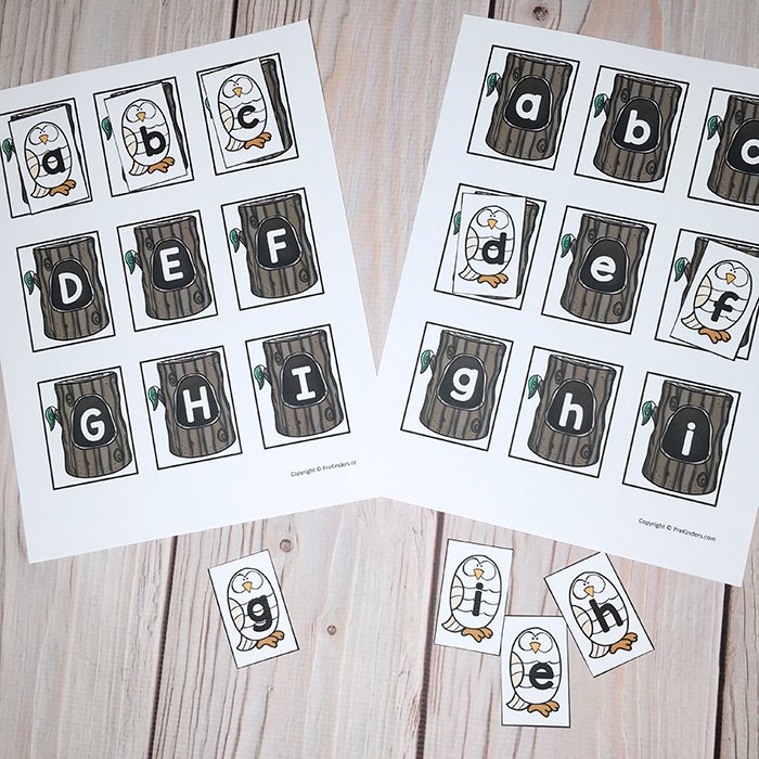 Forest Letter Matching Activity
