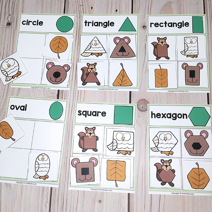 Forest Shapes Printable Game