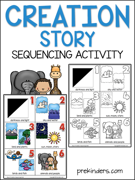 Creation Story Sequencing Cards