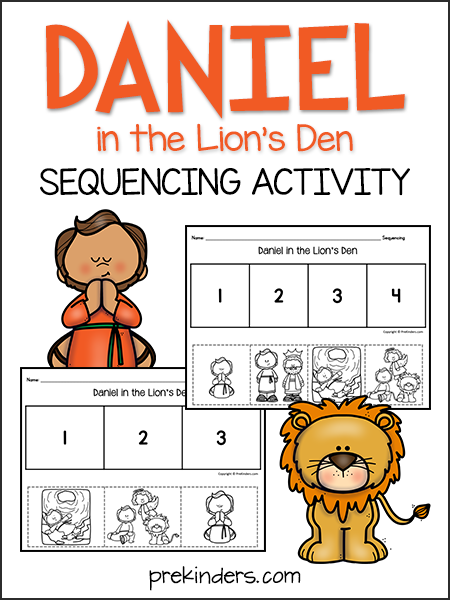 Daniel & the Lions Sequencing Activity