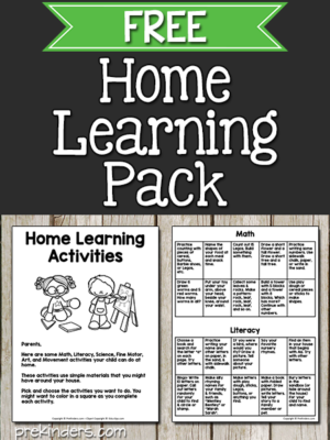 Home Learning for Pre-K