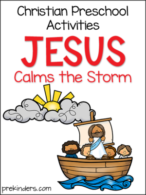 Jesus Calms Storm Christian Preschool Activities
