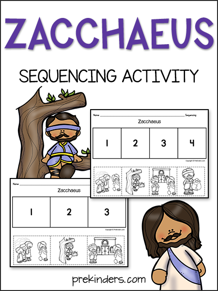 Zacchaeus Bible Story Sequencing Activity