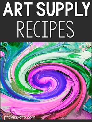 Art Supply Recipes
