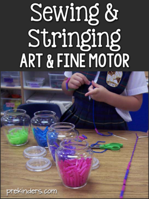 Sewing and Stringing: Fine Motor in Preschool