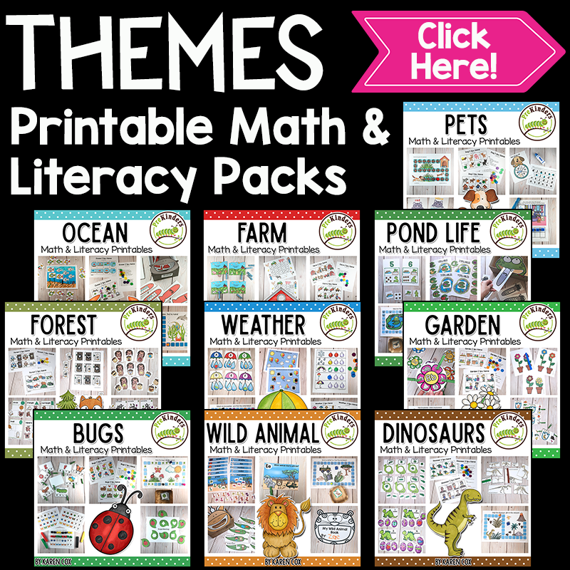 Theme Printable Packs for Pre-K, Preschool