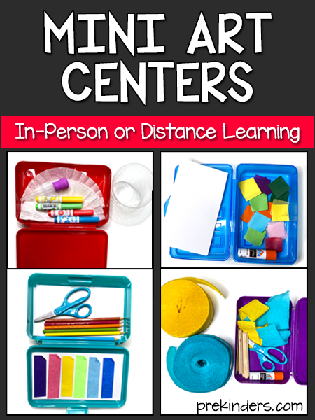 Mini Art Centers for In-Person or Distance Learning