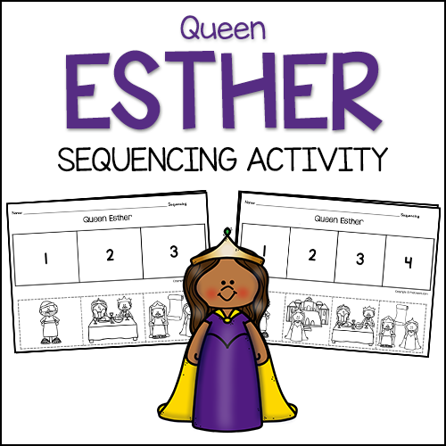 Esther Bible Story Sequencing Activity