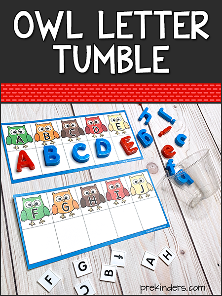 Owl Letter Tumble Game Printable