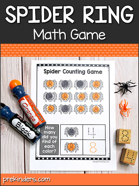 Spider Ring Counting Game @ PreKinders.com