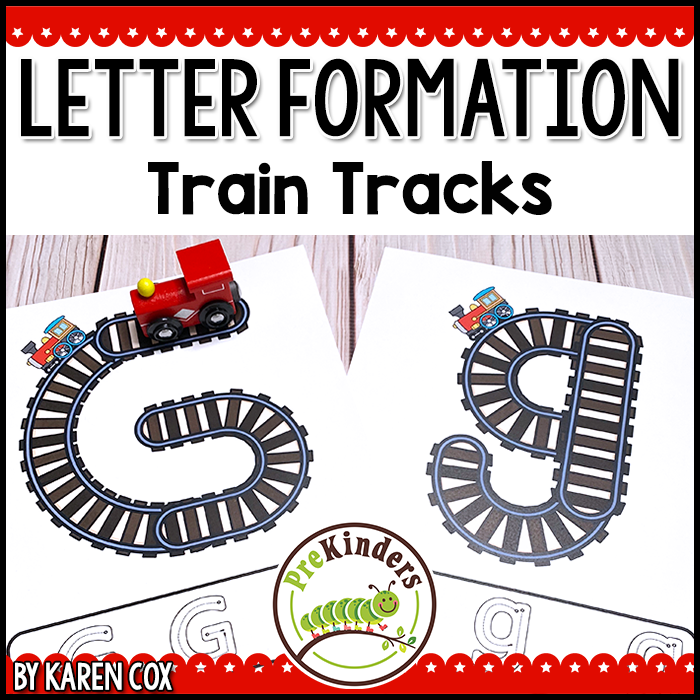 tpt Train Track Letter Formation printables