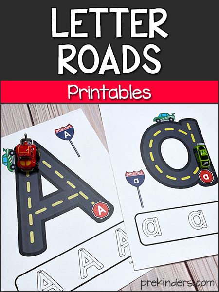 Letter Roads Alphabet Formation Printable