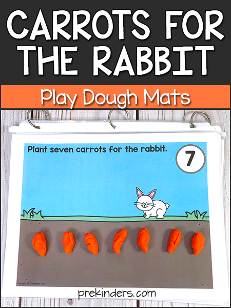Carrots for the Rabbit: Spring Play Dough Mats