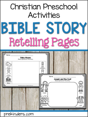 Bible Story Retelling Pages